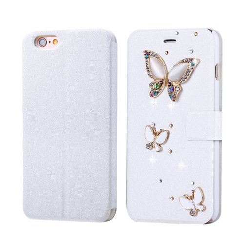 For iPhone 6/6s Fevelove Butterfliy Magnetic Buckle Leather Case with Card Slots