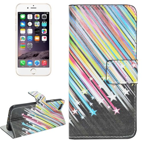 For iPhone 6/6s Star Magnetic Leather Case with Holder, Wallet & Card Slots