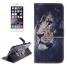 For iPhone 6/6s Lion 2 side Leather Case with Holder, Wallet & Card Slots