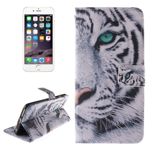 For iPhone 6/6s Tiger 2 side Leather Case with Holder, Wallet & Card Slots