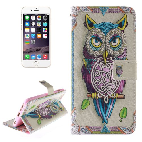 For iPhone 6/6s Owl 2 side Leather Case with Holder, Wallet & Card Slots