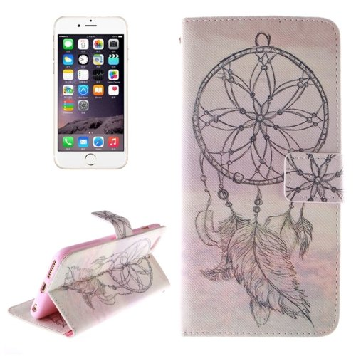 For iPhone 6/6s Windbell 2 side Leather Case with Holder, Wallet & Card Slots
