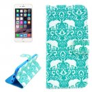 For iPhone 6/6s Elephant Pattern Leather Case with Holder, Wallet & Card Slots