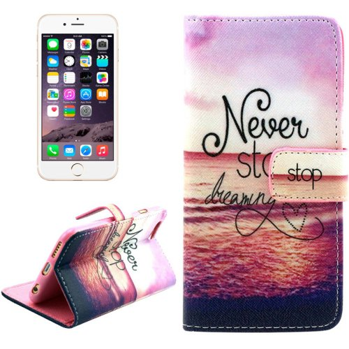 For iPhone 6/6s Cross Hanging Leather Case with Holder, Wallet & Card Slots