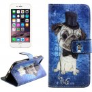 For iPhone 6/6s Cross Dog Leather Case with Holder, Wallet & Card Slots