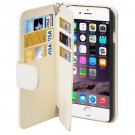 For iPhone 6/6s Wallet 6 Card Slots PU Leather Case with Lanyard - # Colors