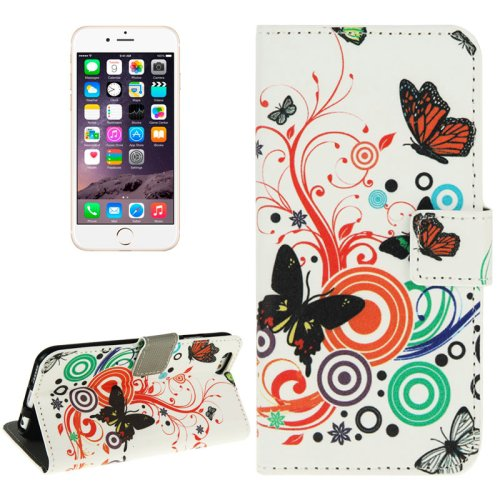 For iPhone 6/6s Butterfly Leather Case with Holder, Wallet & Card Slots