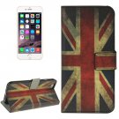 For iPhone 6/6s UK Flag Leather Case with Holder, Wallet & Card Slots