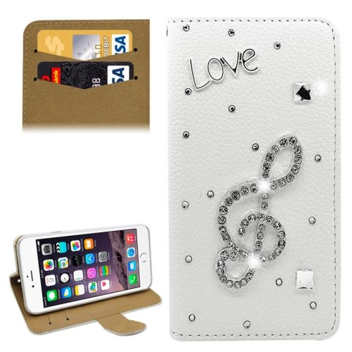 For iPhone 6/6s Diamond Love Leather Case with Holder & Card Slots