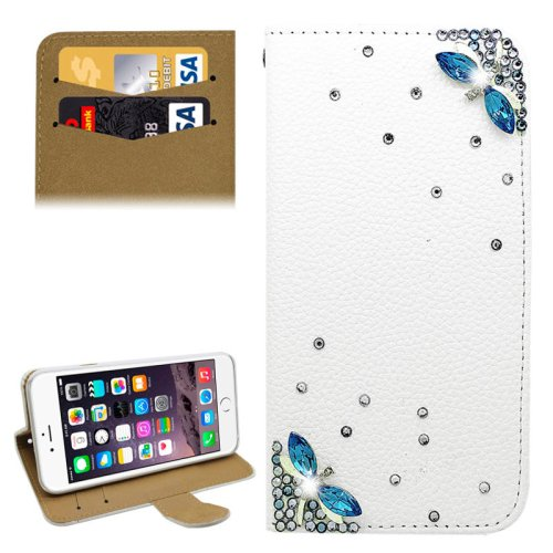 For iPhone 6/6s Diamond Leaf Leather Case with Holder & Card Slots