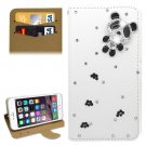 For iPhone 6/6s Diamond Panda Leather Case with Holder & Card Slots