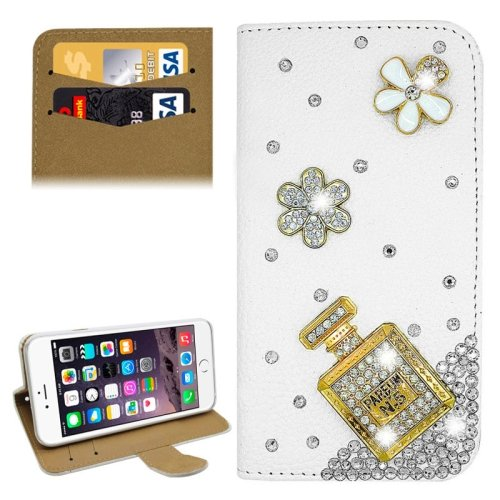 For iPhone 6/6s Diamond Bottle Leather Case with Holder & Card Slots