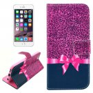 For iPhone 6/6s Bowknot Leather Case with Holder, Wallet & Card Slots