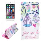 For iPhone 6/6s Birdcage Leather Case with Holder, Wallet & Card Slots