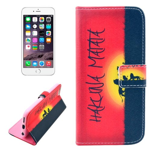 For iPhone 6/6s Sun Leather Case with Holder, Wallet & Card Slots