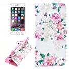 For iPhone 6/6s Flower Leather Case with Holder, Wallet & Card Slots