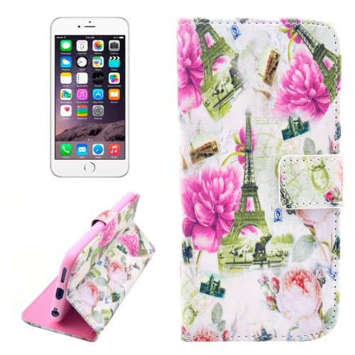 For iPhone 6/6s Tower Leather Case with Holder, Wallet & Card Slots