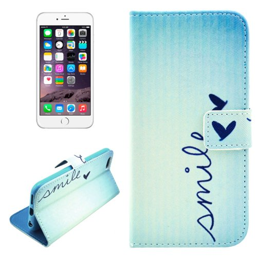 For iPhone 6/6s Smile Leather Case with Holder, Money pocket  & Card Slots