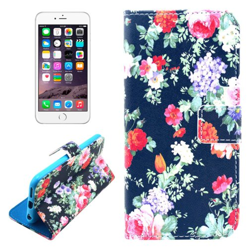 For iPhone 6/6s Flower Leather Case with Holder, Money pocket  & Card Slots