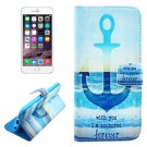 For iPhone 6/6s Anchor Leather Case with Holder, Money pocket  & Card Slots