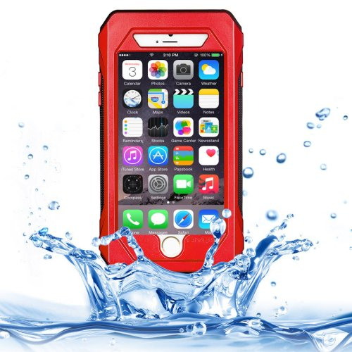 For iPhone 6/6s Red RIYO IP68 Waterproof Shockproof Dustproof Snowproof Case