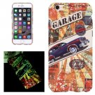 For iPhone 6/6s Garage Pattern PC Protective Case with Noctilucent