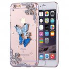 For iPhone 6/6s Fevelove Diamond Butterflies Protective Case Back Cover