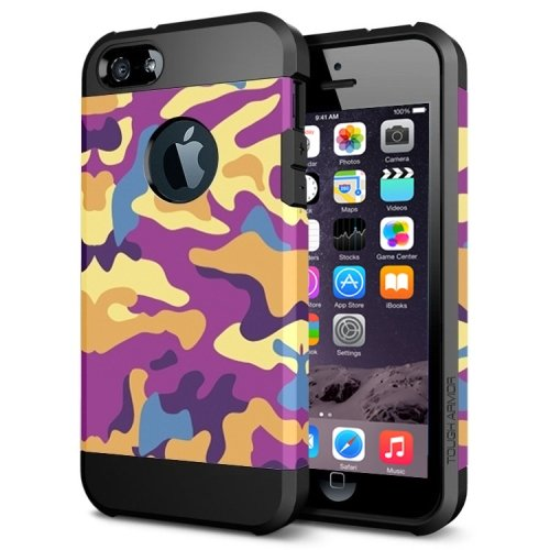 For iPhone 6/6s Camouflage 1 Pattern PC + TPU Colorful Armor Hard Case