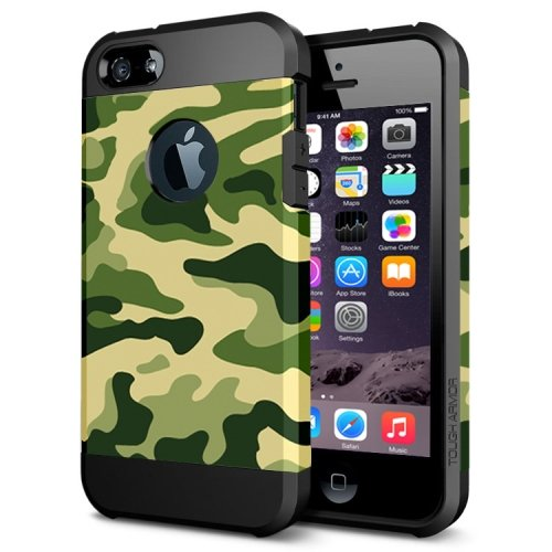 For iPhone 6/6s Camouflage 2 Pattern PC + TPU Colorful Armor Hard Case