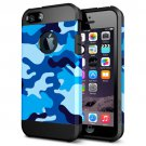 For iPhone 6/6s Camouflage 3 Pattern PC + TPU Colorful Armor Hard Case