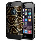 For iPhone 6/6s Snake Skin Pattern PC + TPU Colorful Armor Hard Case