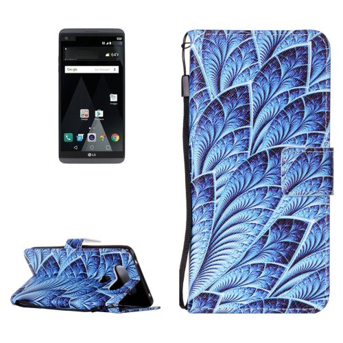 For LG V20 Dazzle PU Leather Case with Holder, Card Slots & Lanyard