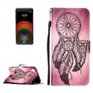 For LG X Power Windbell PU Leather Case with Holder, Card Slots & Lanyard