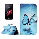 For LG X Screen Butterfly Leather Case with Holder, Card Slots & Wallet
