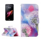 For LG X Screen Dandelion Leather Case with Holder, Card Slots & Wallet