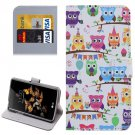 For LG K5 Owls Heads Leather Case with Holder, Card Slots & Wallet