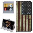 For LG K5 US Flag Leather Case with Holder, Card Slots & Wallet
