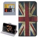 For LG K5 UK Flag Leather Case with Holder, Card Slots & Wallet