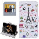 For LG K5 Cartoon Leather Case with Holder, Card Slots & Wallet