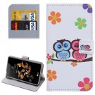 For LG K5 Lovers Owl Leather Case with Holder, Card Slots & Wallet