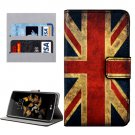 For LG K8 UK Flag Pattern Leather Case with Holder, Card Slots & Wallet