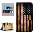For LG K8 USA Flag Pattern Leather Case with Holder, Card Slots & Wallet