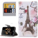 For LG K8 Eiffel Tower Pattern Leather Case with Holder, Card Slots & Wallet