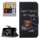 For LG K8 Little Bear Pattern Leather Case with Holder, Card Slots & Wallet