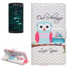 For LG V10 Owls Pattern Leather Case with Holder, Card Slots & Wallet