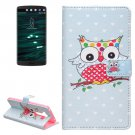 For LG V10 Coloured Owl Pattern Leather Case with Holder, Card Slots & Wallet