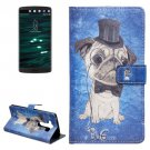 For LG V10 Dog Pattern Leather Case with Holder, Card Slots & Wallet