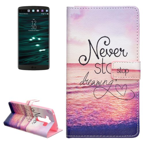 For LG V10 Dreaming Pattern Leather Case with Holder, Card Slots & Wallet