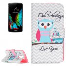 For LG K10 Owls Pattern Leather Case with Holder, Card Slots & Wallet