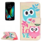 For LG K10 Owls Love Pattern Leather Case with Holder, Card Slots & Wallet